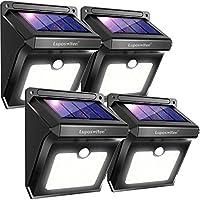 Luposwiten Focos Solares, 28LED Luz Solar Exterior Lámparas con Sensor de Movimiento Iluminacion Exterior para Jardín, Patio, Balcón, Garaje, Terraza, Caminos, Acera, Escalera(4 Paquetes)