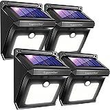 Luposwiten Solarlampen für Außen,28 LED Solarleuchten mit Bewegungsmelder Aussenbeleuchtung Solarleuchten für Außen, Wand, Flur, Treppen,Hof, Einfahrt, Terrassen Solarlichter Garten-4Stück