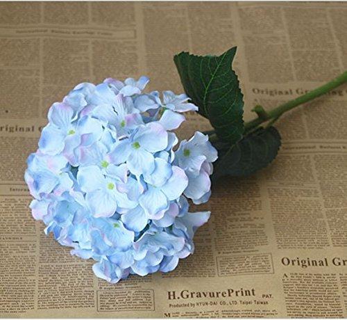 Nixikoo® 2 x Mini Kunstblumen Blumenstrauß Künstlich Hydrangea Blumen Hortensie Haus Hochzeitshotel Dekor Hochzeit Home Décor Brautjungfer Blumenmädchen Blume (Blau)