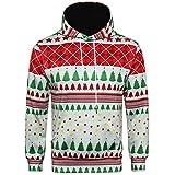 Xmiral Weihnachten Hoodies Herren Bedruckte Pullover Langarm Kapuzenshirt Tops (M,A)