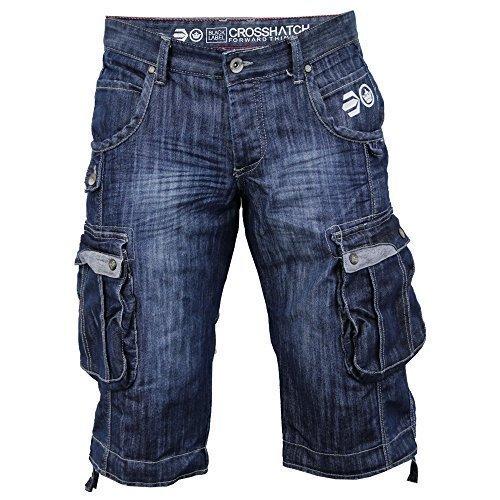da-uomo-denim-crosshatch-pantaloncini-militari-con-tasche-jeans-scoloriti-estate-nuovi-firmati-casua
