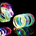 Goldge LED Armband Kinder Leuchtend Armband Bunt LED Armreif Leuchtend Armbänder 6 Stück Blau/ Pink/ Gelb/ Grün/ Weiß/ Lila