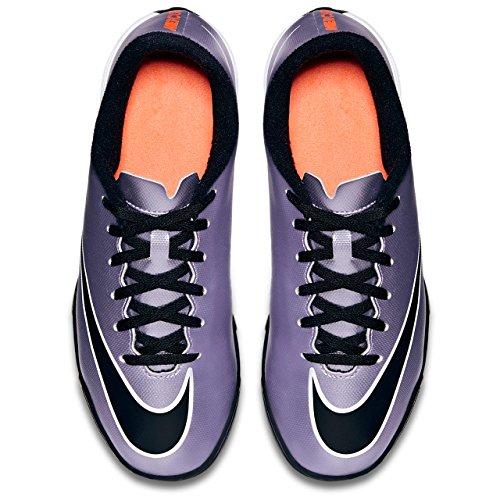 Nike Jr Mercurial Vortex Ii Tf, Chaussures de Sport Fille Violet / Noir / Jaune / Blanc (Urbn Lilas / Blk-BRGHT Gest-Blanc)
