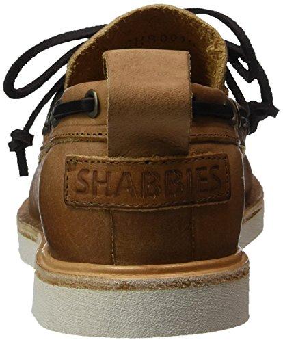Shabbies Amsterdam Bootschuhe Vegitabil Leder, Chaussures Bateau Femme Beige (Light Brown)