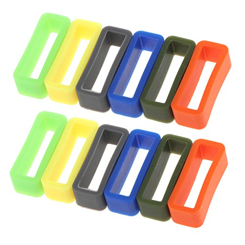 milageto 12 Stü Helle Farbe Silikonkautschuk Ersatz Watch Band/Strap Schleife In Verschiedenen Größen 10mm 22mm - 18mm. - Uhrenarmband Gummi 12mm