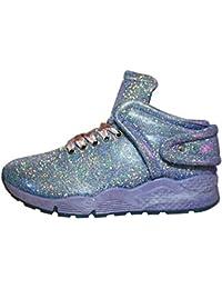 8b40ab4991c0 Damen Glitzer HIGH TOP Boots Sneaker Fitness Freizeit Party Schuhe GR. 36-41