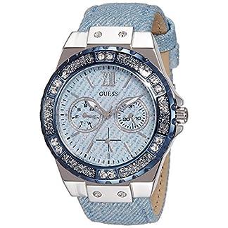 Guess Reloj analogico para Mujer de Cuarzo con Correa en Tela W0775L1