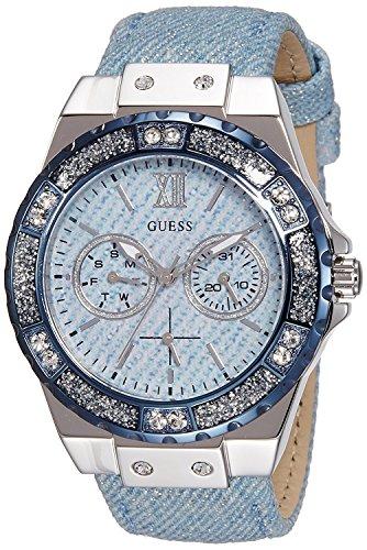Guess Damen-Armbanduhr Ladies Sport Analog Quarz Leder W0775L1