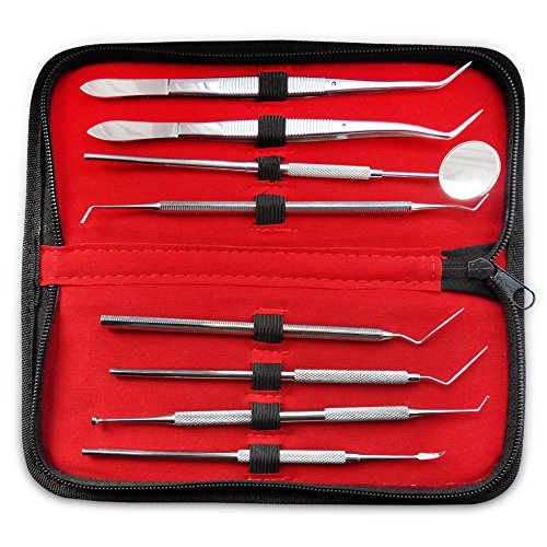 lmc-dental-kit-scalers-8-piece-stainless-steel-mirror-tooth-scraper-set-with-cotton-twizers-leather-