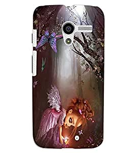 ColourCraft Cute Baby Angel Design Back Case Cover for MOTOROLA MOTO X