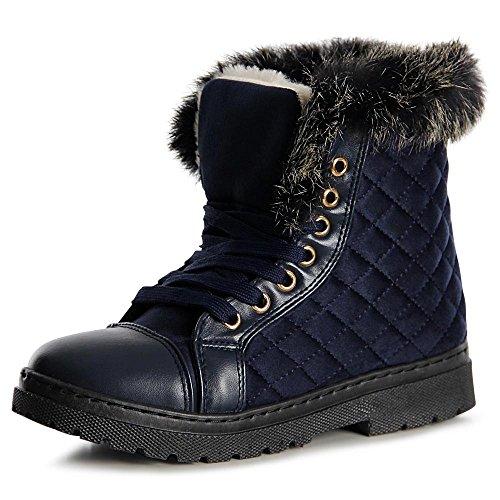 topschuhe24 1071 Damen Stiefeletten Boots Booties Blau
