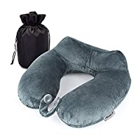 Travel Neck Pillow, Memory Foam U Shape Travel Pillow Sleep Neck Support with Easy to Carry Portable Bag for travelling, Aeroplanes, Car, Bus and Train