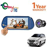 myTVS TRV-67T 7 inches Car Rear View Full HD Touch Parking Screen with Mirror Link + Night Vision Car Rear View Camera for Toyota Innova