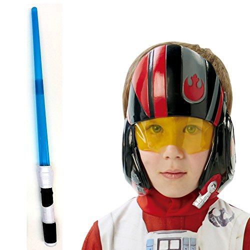 Jedi Set bestehend aus Helm Maske & elektrischem Lichtschwert, FX Laserschwert mit Licht & Sound - 2
