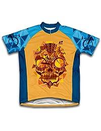Orange Catrina Maillot Camiseta de Ciclismo para Mujer Todas las Tallas - (3XL)