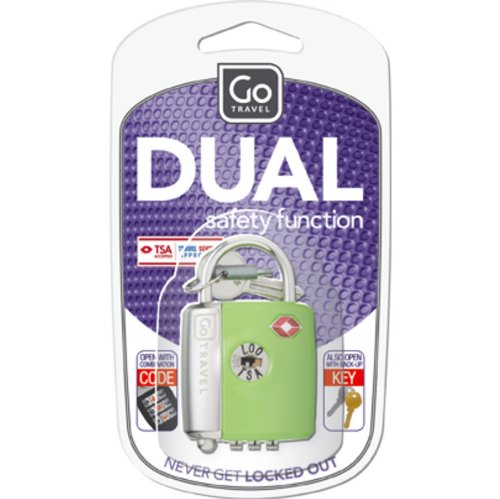 go-travel-dual-combi-key-tsa-lock-assorted-colours