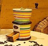 ZXMXY Macchina da caffè in ceramica Mini manuale Macinacaffè regolabile in ceramica Conica Burr Hand Manovella macina Fagioli Spezie