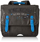 IKKS Cartable Rock Rebel Trolley, 35 cm, Multicolore (Bleu/Noir)