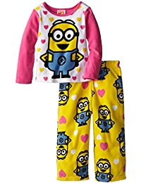 AME Sleepwear Little Girls Despicable Me Acogedor Forro Polar Pijama Set