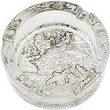 Générique-Cenicero 3520 mapa antiguo en estuche de latón, multicolor, 8,5 x 8,5 x 3,5 cm