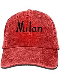 Vidmkeo Milan Txt Cuore Graphic Line Art Cowboy Sport Cappellino Posteriore  Cappellino Regolabile Unisex27 4301e00bd411