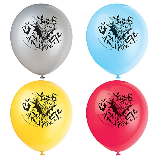 (KULTFAKTOR GmbH Batman Latexballons 12 Stück 30 cm Einheitsgröße)