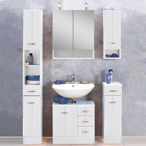 Waschbeckenunterschrank Rallye, Held, weiß (60 cm breit) - 2