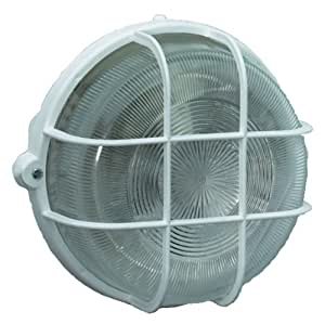 Brennenstuhl Rundleuchte Color / Lampe für Außen - und Innenbereich (spritzwassergeschützte Leuchte zur Decken- und Wandmontage, IP44) Farbe: weiß