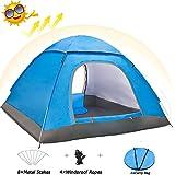Eyeco Pop up Zelt Wurfzelte für 3-4 Personen, Automatische Wurfzelt Leicht Trekkingzelt Familien Camping Zelt,Doppeltüren,200x200x135cm