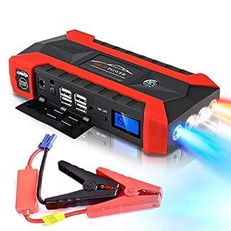 89800mAh Multifunción Arrancador de Coche 12V 4USB 600A Cargador de Batería de Automóvil Portátil Arranque de Emergencia Banco de Energía Kit de Herramientas