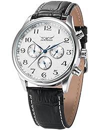 AMPM24 PMW036 - Reloj Mecánico Hombre, Correa de Cuero Negro