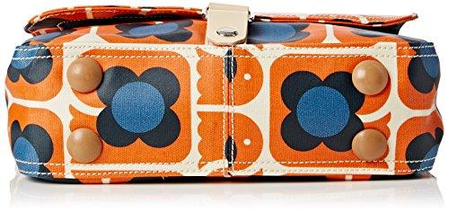Orla Kiely - Love Birds Print Small Satchel, Borsa a tracolla Donna Orange (Persimmon)