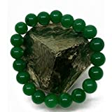 Plusvalue Aventurine Bracelet for Better Job Opportunities, Increase Prosperity and Reiki and Crystal Healing with Jute Bag (Green)
