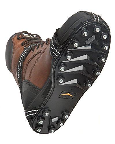 Stabilicers Maxx Original Heavy Duty Stabilicers Glace Traction Crampons pour la neige et la glace–Traction Crampons pour bottes et chaussures Ice Crampons Black