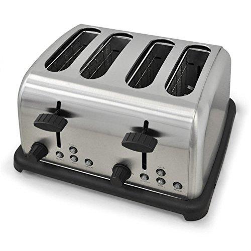 Produktbild bei Amazon - Klarstein TK-BT-211-S  Toaster  4-Scheiben-Toaster  Vierschlitz-Toaster  Edelstahl  Vintage-Design  1650 Watt  Bagel-Funktion  Auftau- und Aufwärm-Funktion  6-stufig einstellbarer Bräunungsgrad  2 separat regelbare Sektionen  silber