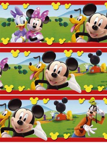 Disney Mickey Mouse Tapete Bordüre Borte 5 Meter x 15 cm Selbstklebend