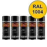 RAL 1004 Goldgelb Spraydose 5 x 400 ml glänzend schnelltrocknend