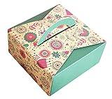 Alien Storehouse Satz von 10 Bunte quadratische Nette Plätzchen-Kasten-Paket Biscuit Box orange