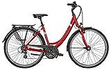 Fahrrad 28 Zoll rot - Citybike Pegasus Solero SL - Trekkingbike, Shimano Kettenschaltung, StVZO Beleuchtung