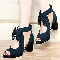 68b1100ec65f2 HUAIHAIZ Escarpins femme Talons hauts Bouche de poisson sandales chaussures  net yarn les chaussures à talons