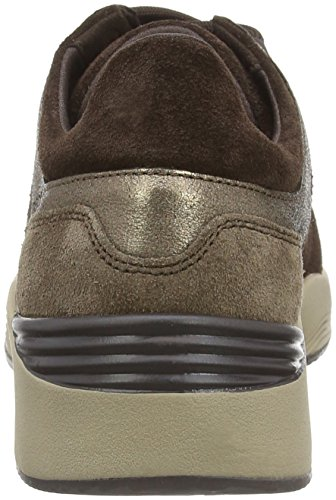 Geox D Omaya, baskets sportives femme Marron - Braun (C9H1BLEAD/DOVE GREY)