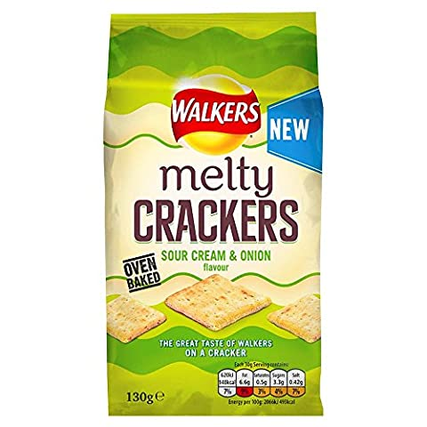 Walkers Melty Crackers Sour Cream & Onion,