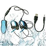 HuaDun Nouveau Design Waterproof Portable Sport Lecteur MP3 Lecteur de musique imperméable 4GB IPX8, Écoutez votre musique tout en nageant / Running / Pour tous les sports de loisirs, imperméable à l'eau Profondeur de 3 mètres (LFA-296) (bleu)