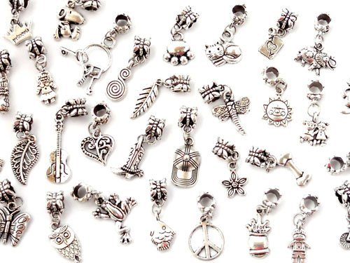 Boolavard® TM Mixed TIBETAN Pendants CHARMS Lots of 50
