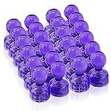 Aussel 24 Stück Magnetic Push-Pins - ideal für die Magnete, Whiteboards und Karten (24 Stücke Rosa)
