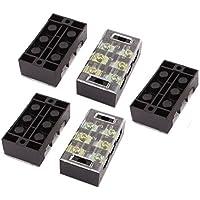 TB4503 DealMux 5 piezas de 600V 45A de doble hilera de 3 posiciones de terminales de tornillo Bloques de barrera conector