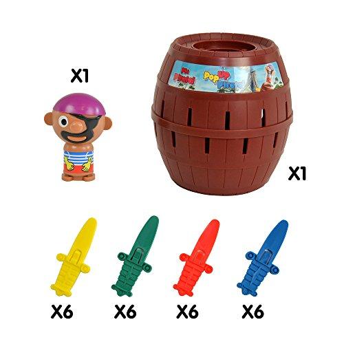 """Tomy Kinderspiel """"Pop Up Pirate"""" – hochwertiges Aktionsspiel für die ganze Familie – Piratenspiel verfeinert die Geschicklichkeit Ihres Kindes – ab 4 Jahre - 4"""