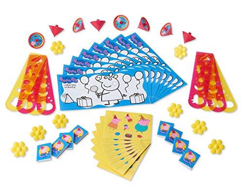Partyzuebhör Peppa Pig 48 Teiliges Spiel und Geschenkset - 8 Verschiedene Spielzeuge Ideal für Kindergeburtstage