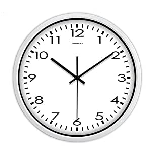 Mute Wall Clock Large Home Decor 3 Sizes Modern Classic All Digital Quartz Clock Simple Mute