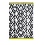 Fab Hab - Valencia - Grau - Teppich/ Matte für den Innen- und Außenbereich (90 cm x 150 cm)